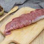 野猪杂交原粮黑猪 梅条肉